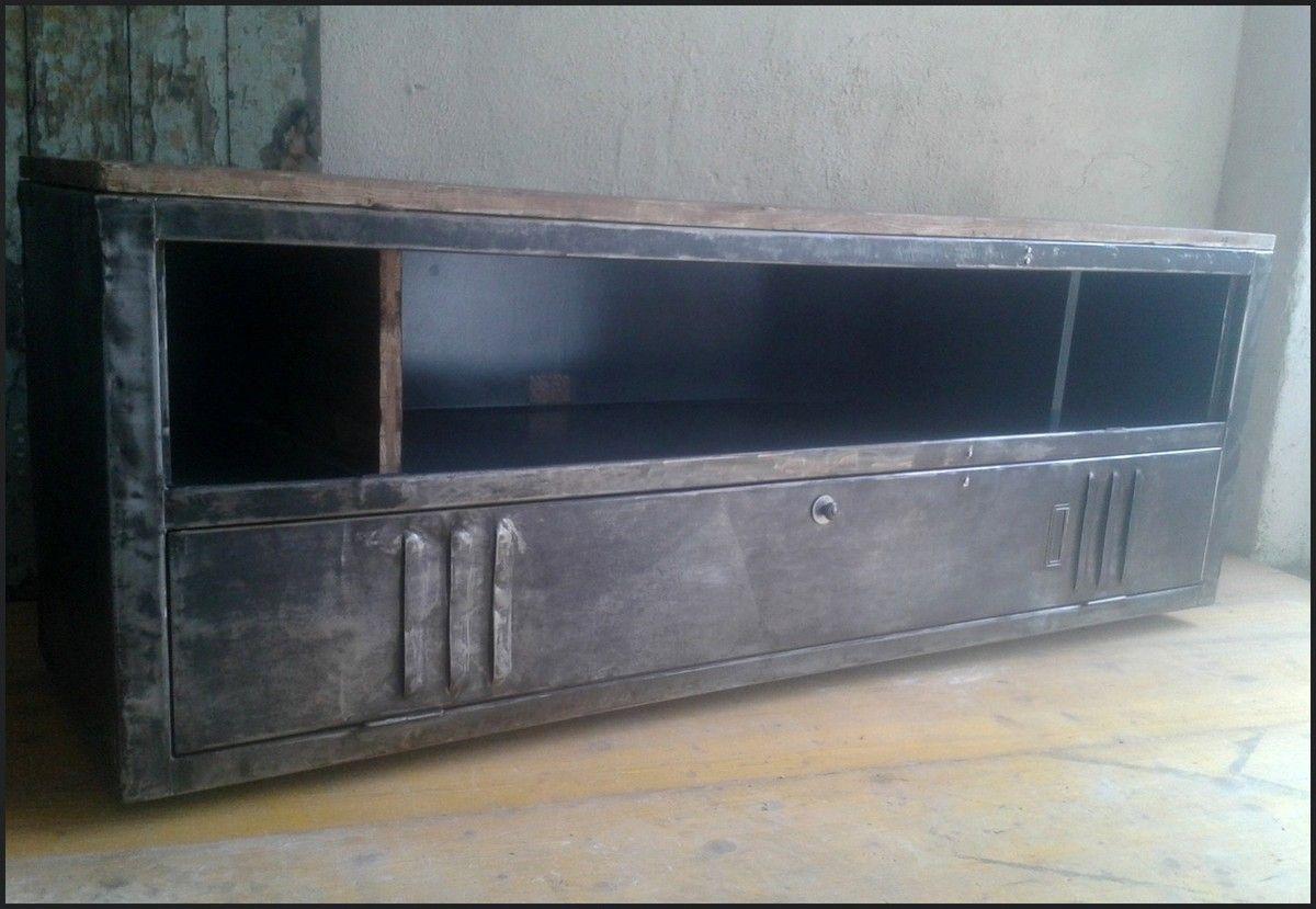 Meuble Tv Industriel Vintage Mur Tv Pinterest Meuble Tv  # Hauteur D'Un Meuble Tv