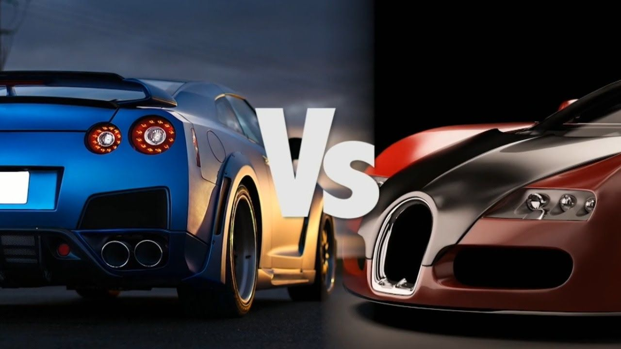 nissan gtr vs bugatti veyron superautos kahn | autos en video hd