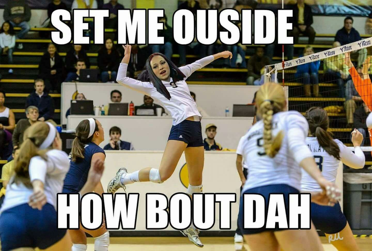 How Bout Dah Volleyball Humor Volleyball Workouts Volleyball Inspiration