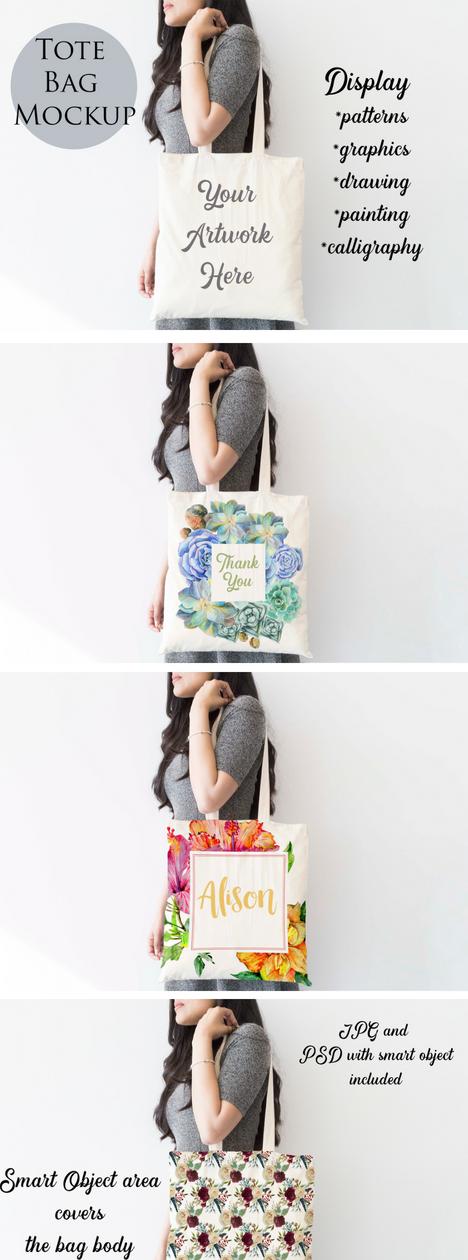 Download Tote Bag Mockup 66038 Mock Ups Design Bundles Bag Mockup Creative Tote Bag Tote Bag