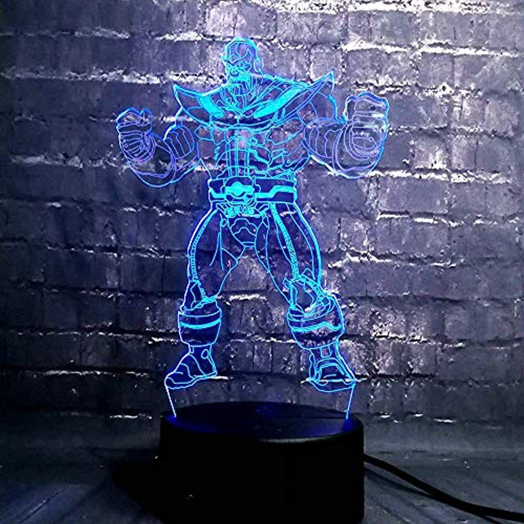 Superheld 3d Illusion Nachtlampe7 Farbige Nachttischlampen Mit Fernbedienung Fur Schlafzimmerdekoration Hochzeit Geburtstag Nachttischlampe Baby Geschenke Und Personalisierte Geschenke