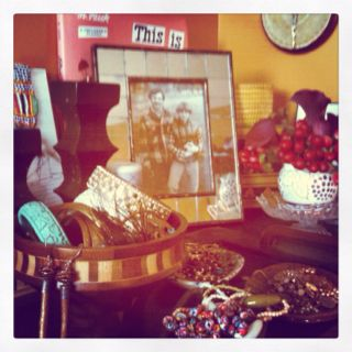 My dresser. Flowers brightened it up on this lovely Friday!
