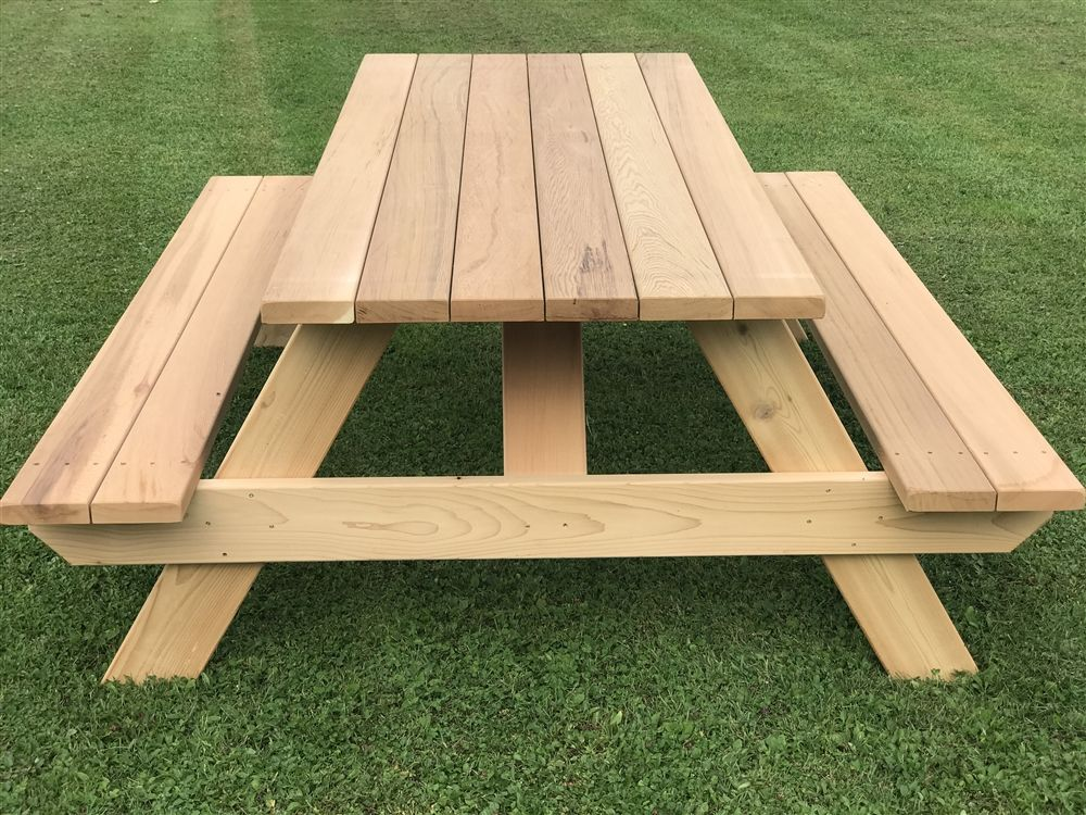 56 Hexagonal Cedar Picnic Table W All Around Seating Diy Picnic Table Picnic Table Plans Wooden Picnic Tables