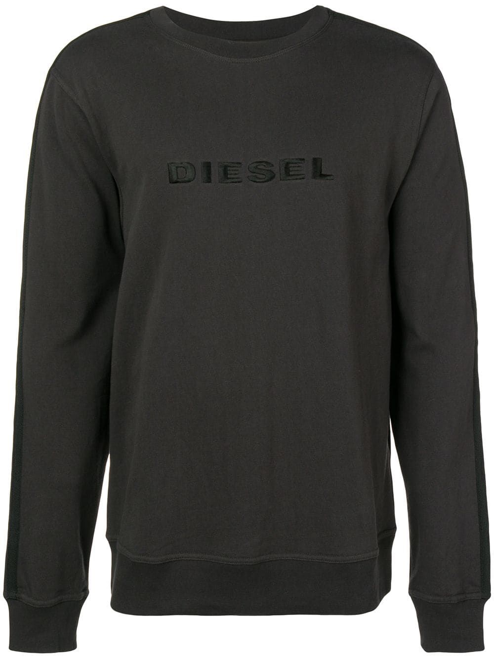 c8b308643a4bc Diesel logo sweatshirt - Grey in 2019   Products   Sweatshirts ...
