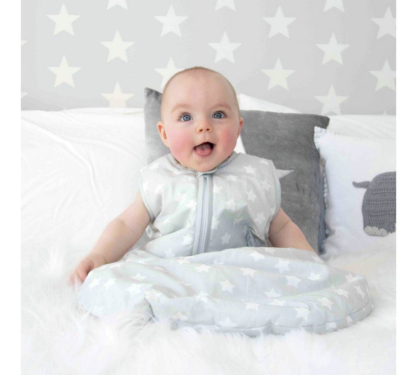 new style 42985 2051d Buy My Babiie Grey Star Sleeping Bag - 6 - 18 months | Baby ...