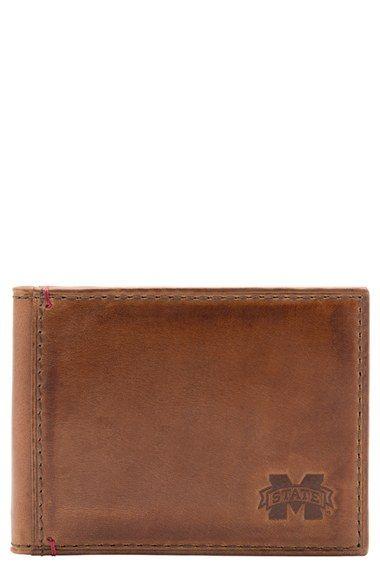 Jack Mason Brand 'Campus - Mississippi State Bulldogs' Front Pocket Wallet