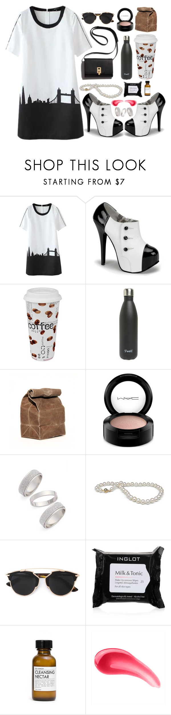 """Untitled #255"" by lunarose74 ❤ liked on Polyvore featuring moda, Könitz, S'well, MAC Cosmetics, Topshop, Christian Dior, Inglot, Fig+Yarrow, Too Faced Cosmetics e women's clothing"