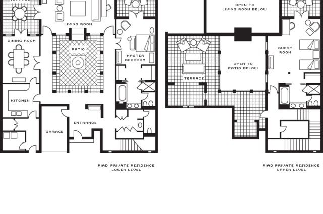 Moroccan Riad Floor Plans. I Like The Design But Would Prefer More Bedrooms