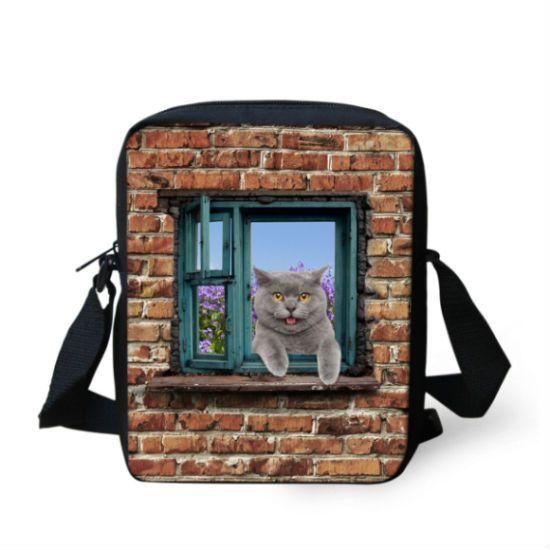 5f3737d56c 3D Printed Cat Cross Body Bag. 3D Printed Cat Cross Body Bag Cheap  Messenger Bags, Casual Bags, Men ...