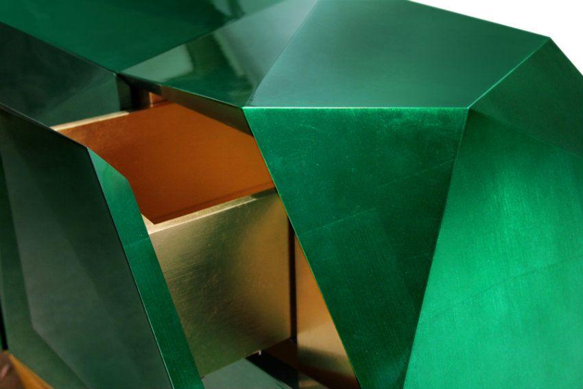 Moderne Anrichten, die Funktionalität und Luxus Design verbinden - modernes wohnzimmer grun