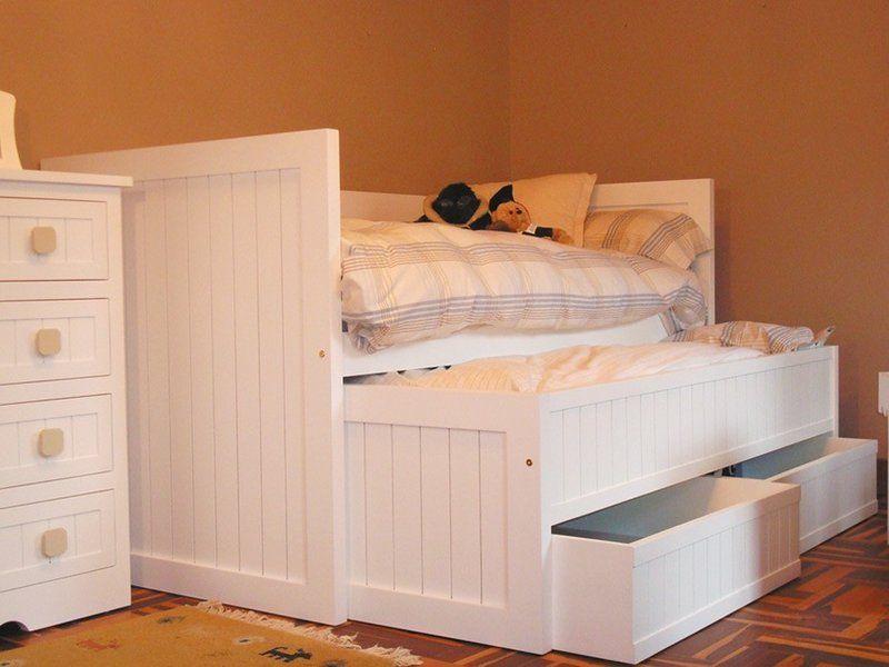 Cama nido marinera cajones mueble pinterest for Cama nido con cajones blanca