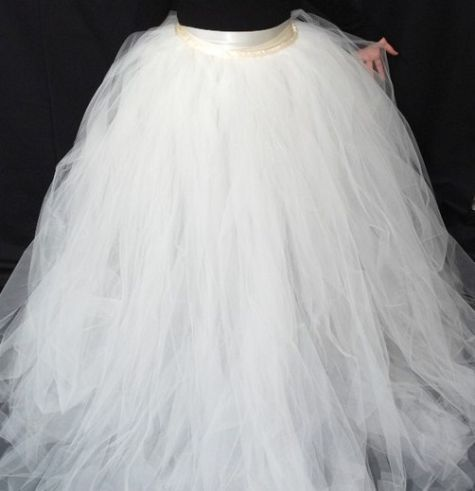 Diy wedding skirt tutu tulle skirts wedding dress and for How to make a long tulle skirt for wedding dress