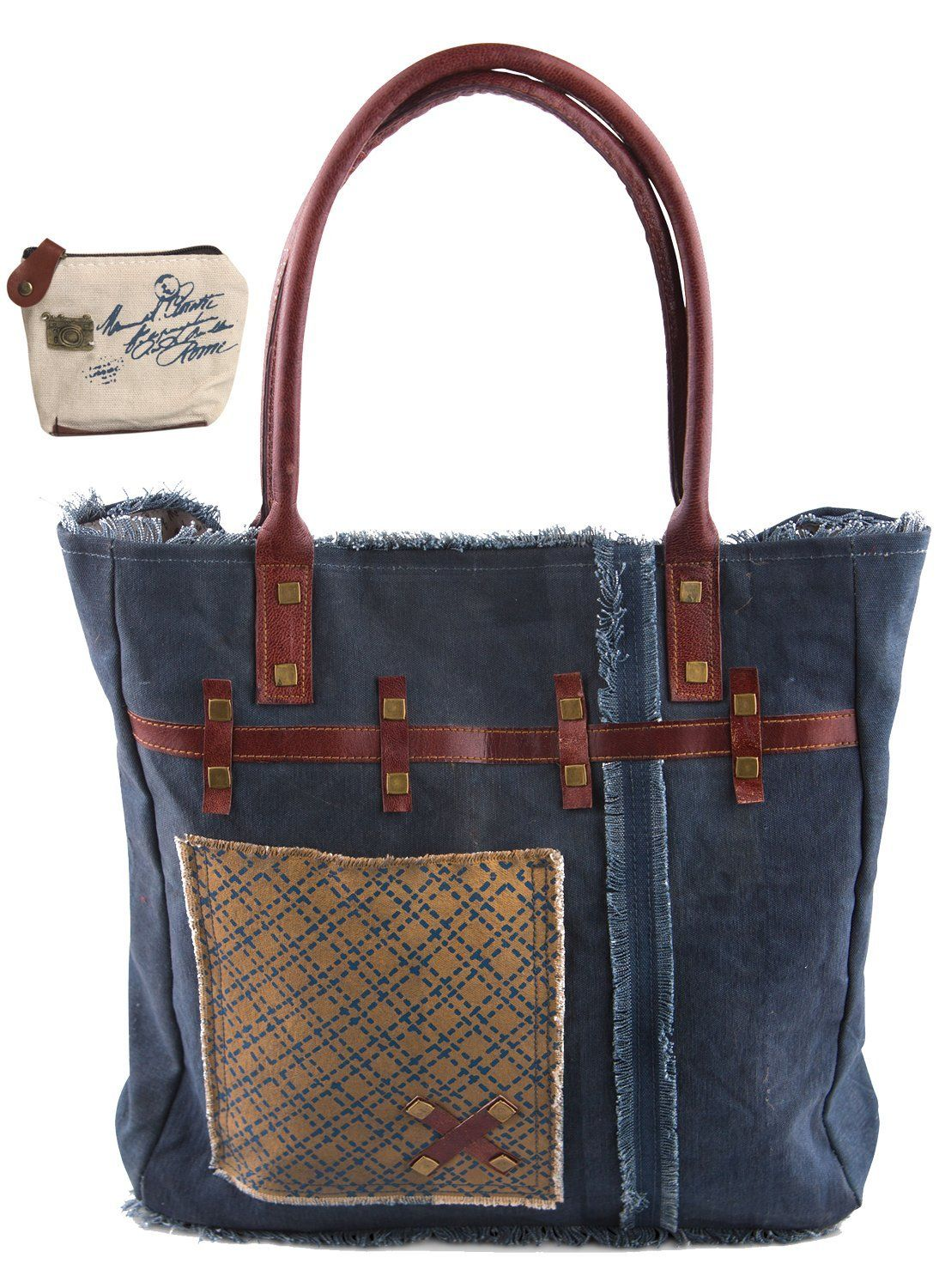 GUESS Women's Kalen Carryall Denim Tote: Handbags: Amazon