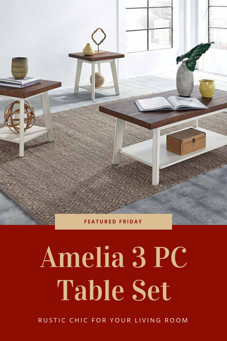 This Amelia Coffee Table Set Is Country Chic Wood Table Living Room Table Table Settings