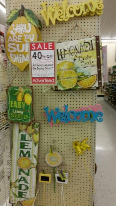 Hobby Lobby Lemonade Stand Summer Decor Summer Decor Lemonade Stand