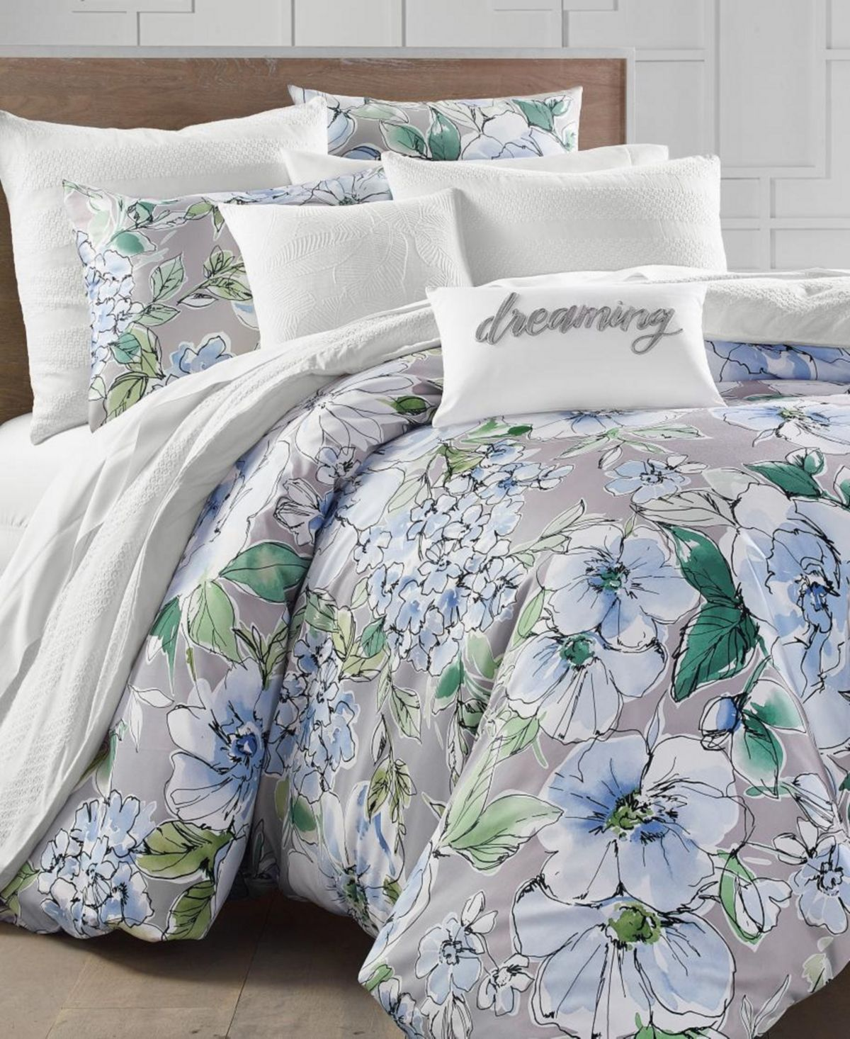 Charter Club Floral Blooms 300 Thread Count King Duvet Set Created For Macy S Reviews Covers Sets Bed Bath Queen Comforter
