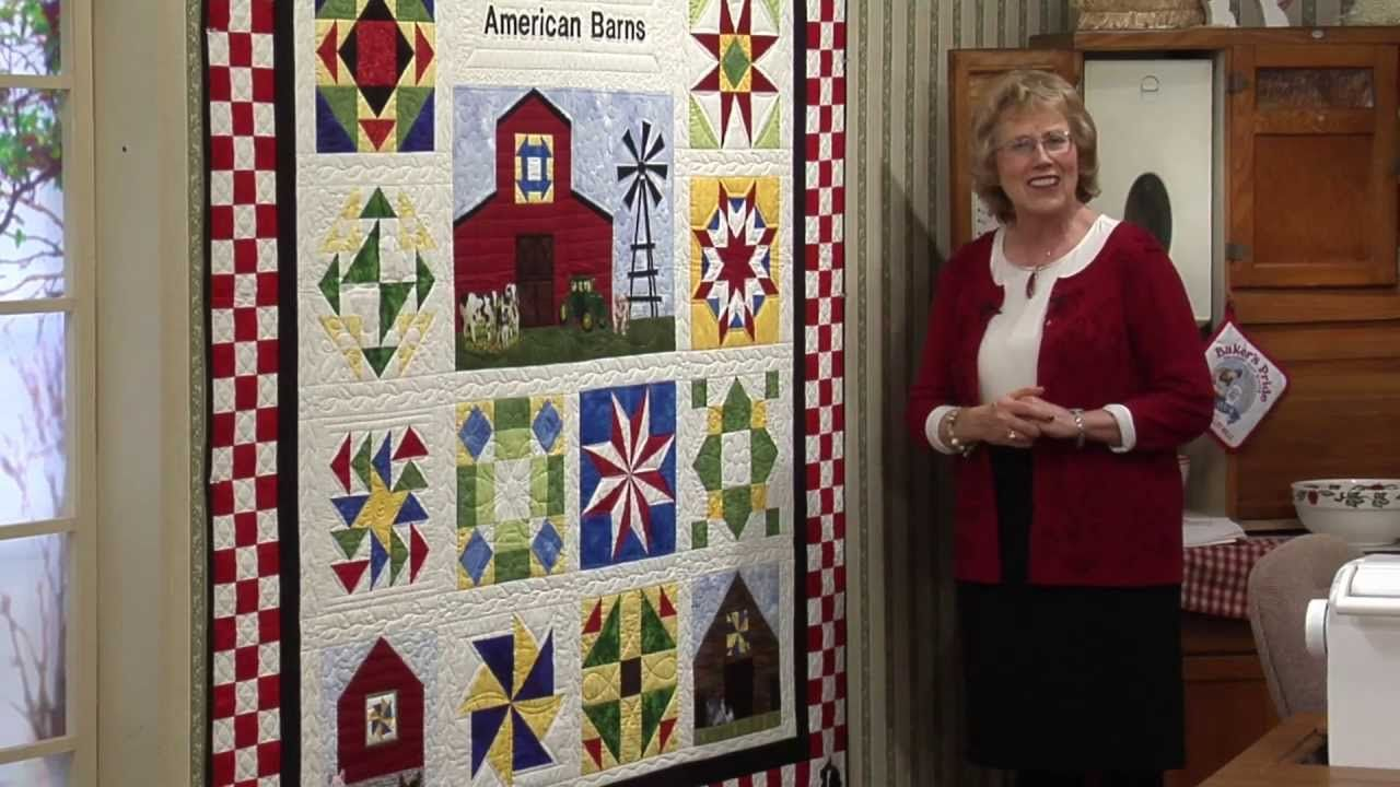 Quilt Blocks on American Barns - Dutch Barn with End of Day