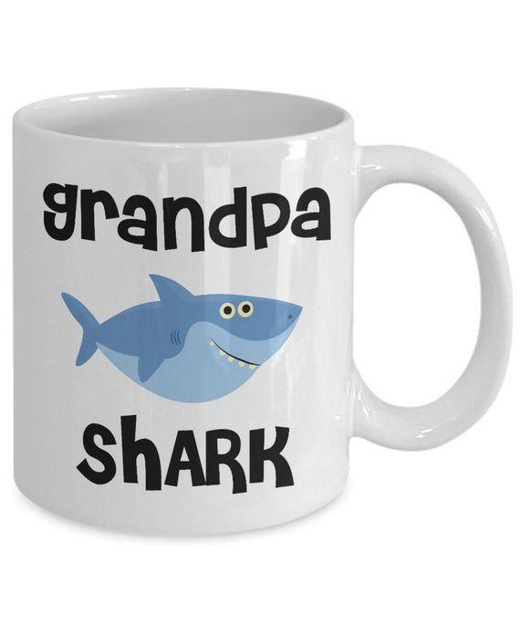 Grandpa Shark Mug Do Do Do Coffee Cup Grandpas Birthday Gift Idea Gifts for Grandpas Present