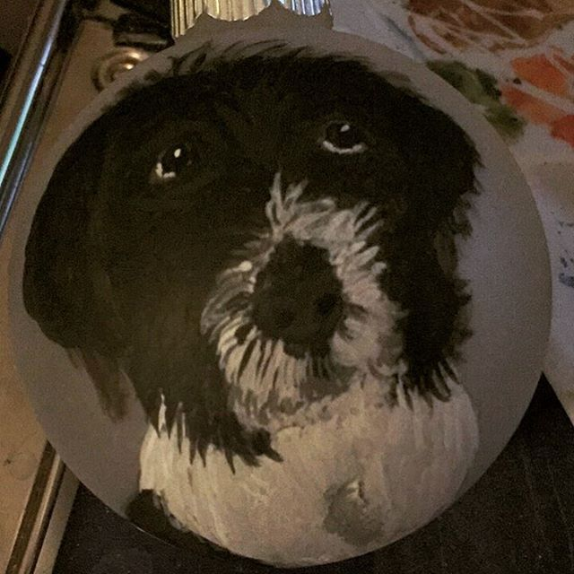 This pup turned out great! #dogportrait #dogornament #dogart