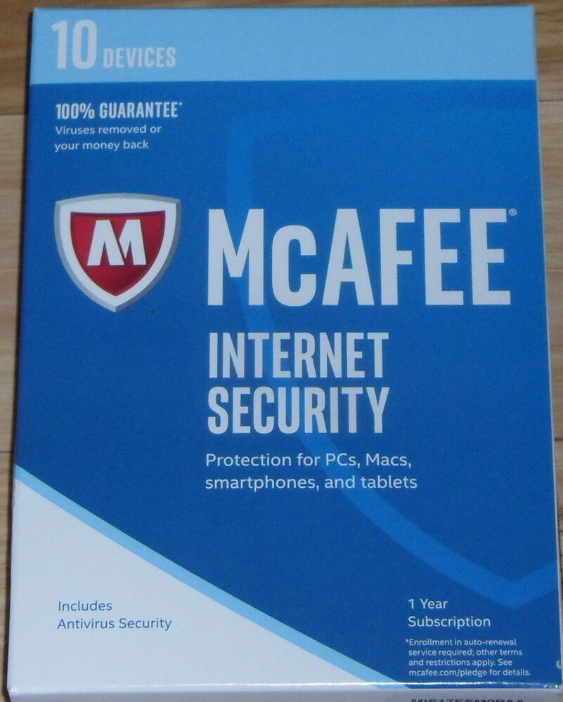 eBay #Sponsored Brand New McAFEE 2017 Internet Security 10 Devices 1
