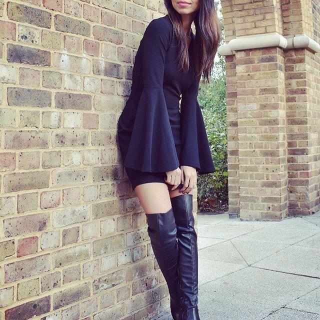 SAPPHIRE Block Heel Over The Knee Thigh High Boot | Thigh