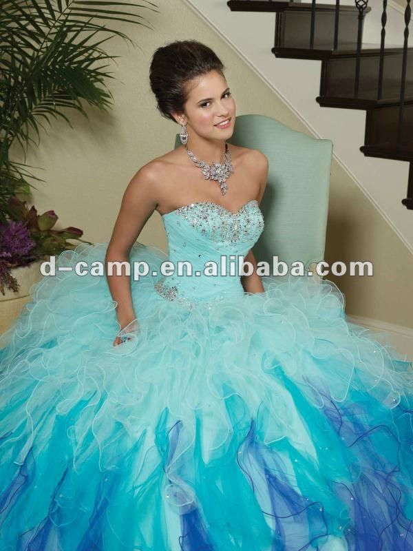Baby Blue Puffy Prom Dresses Long puffy prom dressesqu | summa ...