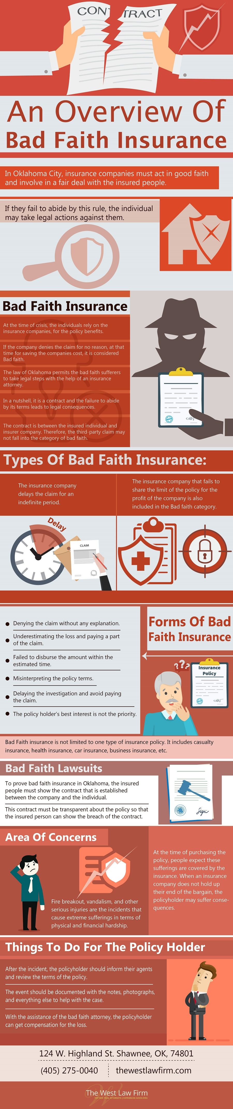 An overview of bad faith insurance infographic law