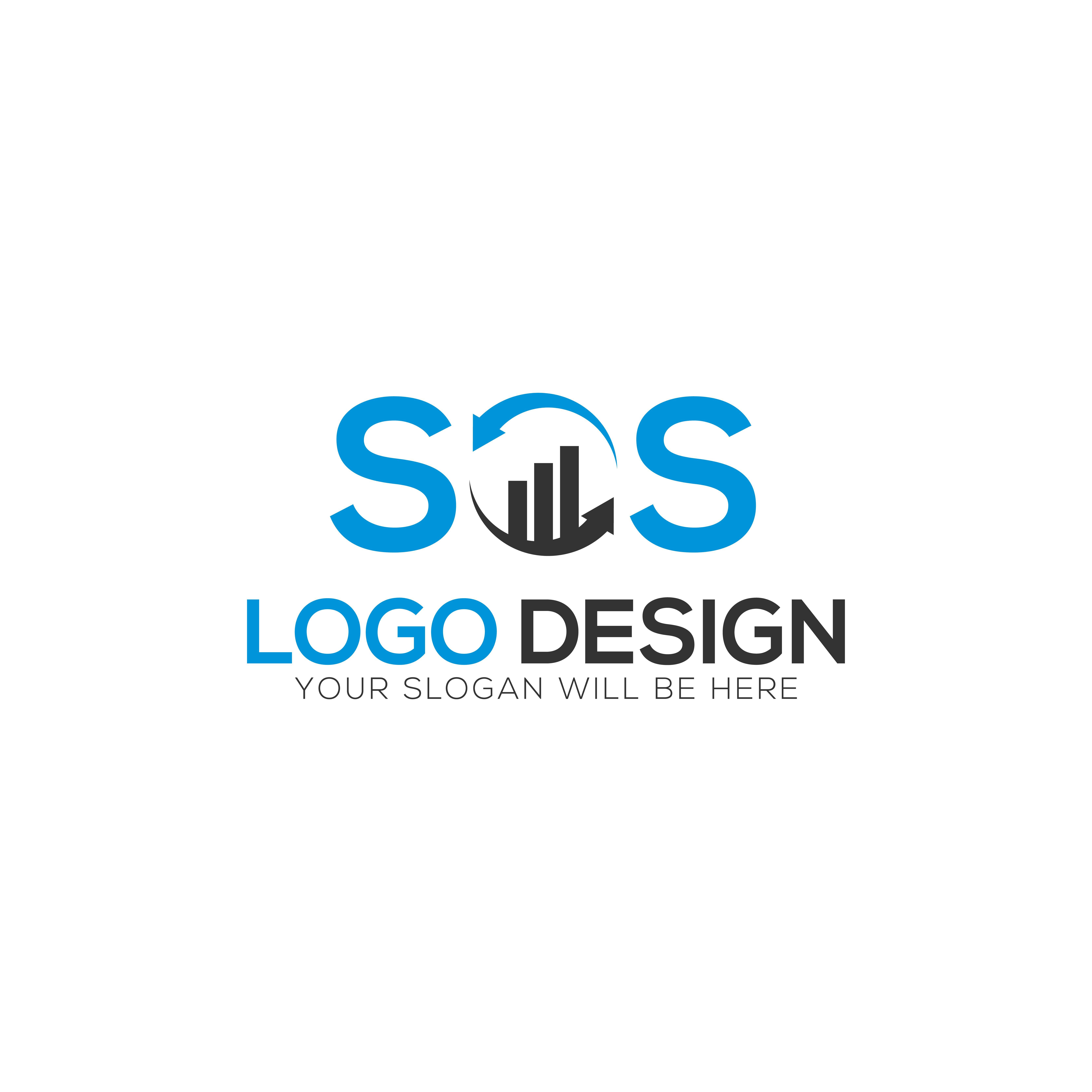 SOS Letter Logo Design Vector illustration logo_design,