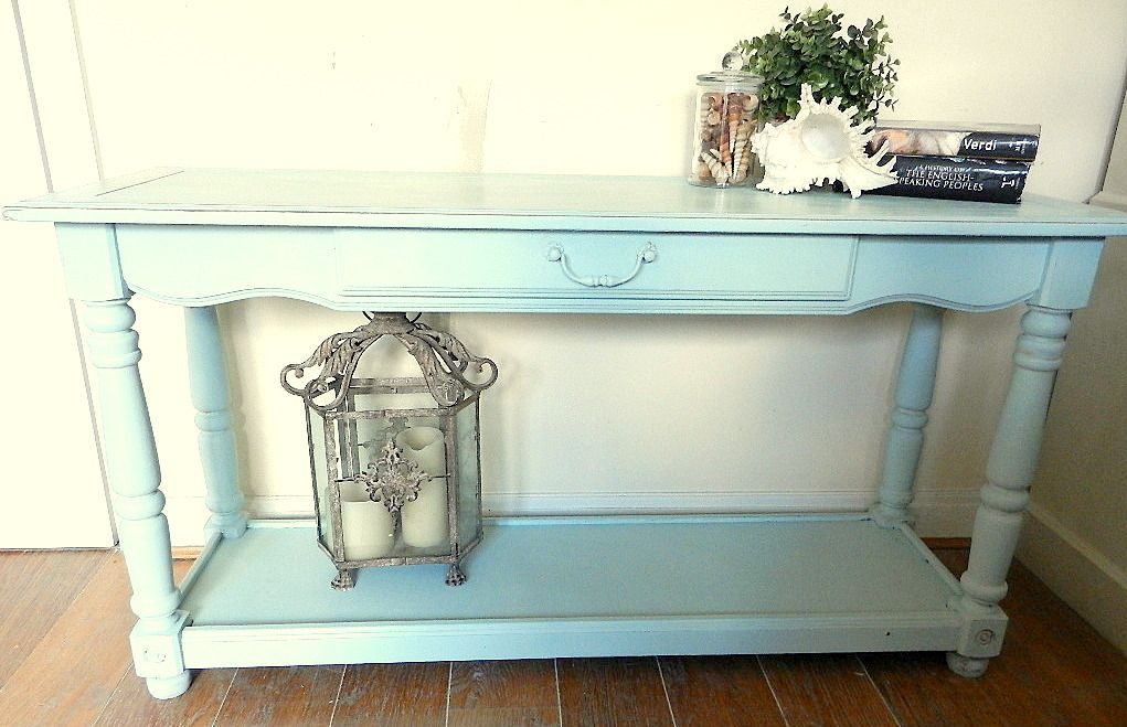 Hand Painted Console Table In Duck Egg Blue Blue Console Table Upcycled Furniture Furniture