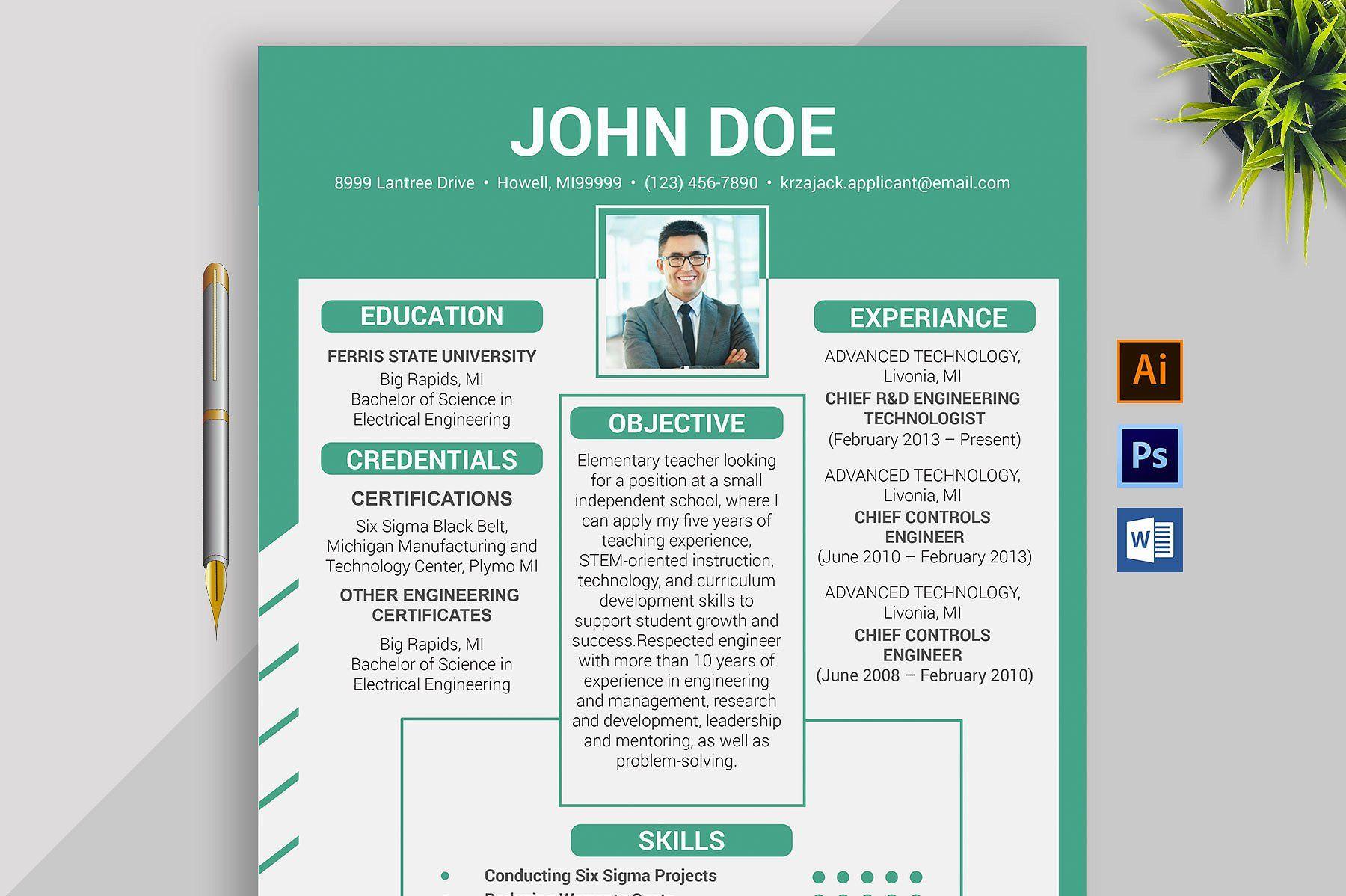 Clean Resume/CV Resume microsoft word, Resume cv, Clean