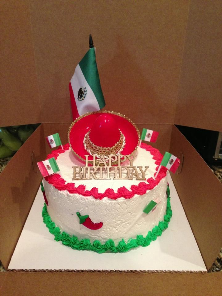 Mexican Theme Cake Cakes And More Pinterest Theme