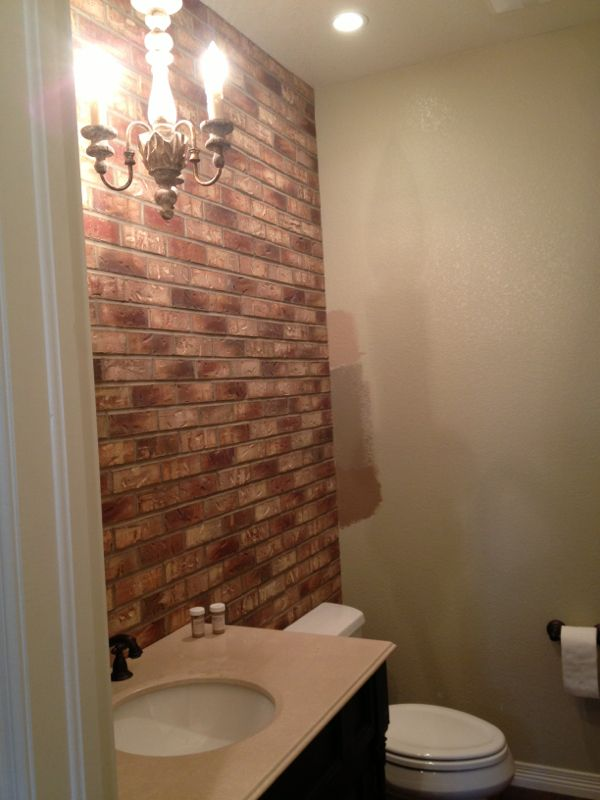 Love The Exposed Faux Brick Accent Wall Minimal