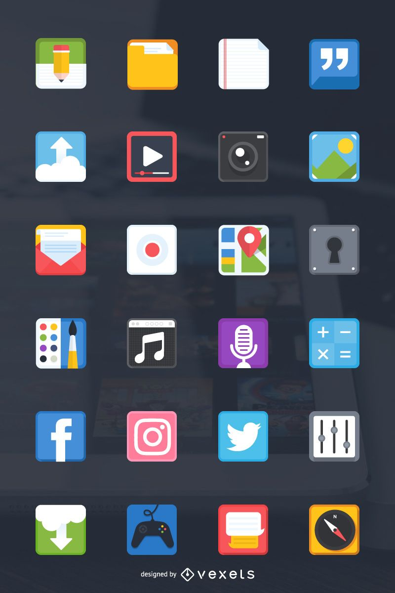 24 free icons for your next mobile app design project(画像あり