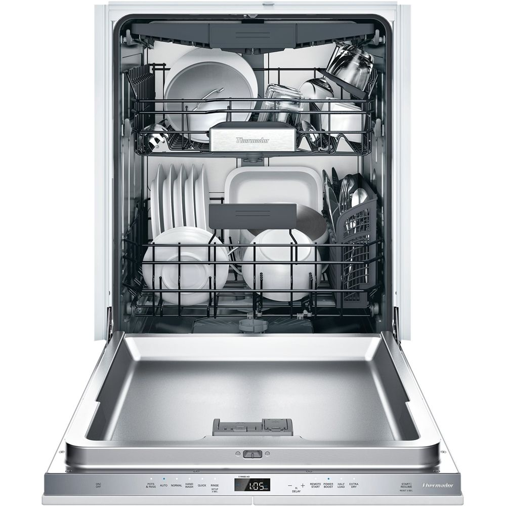 Thermador 24 Top Control Built In Dishwasher With Stainless Steel Tub Dwhd650wpr Best Buy In 2020 Steel Tub Built In Dishwasher Stainless Steel Dishwasher