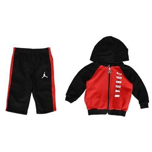 6722c619d32 Air Jordan Baby Boy 2 Piece Jogging Set~Tracksuit~Black, Red &  White~Jumpman #Jordan #Jumpman #BabyBoy #Tracksuit