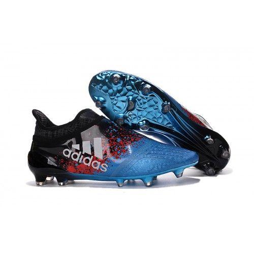 comprar 2016 adidas x 16+ purechaos fg ag botas de futbol azul negro baratas