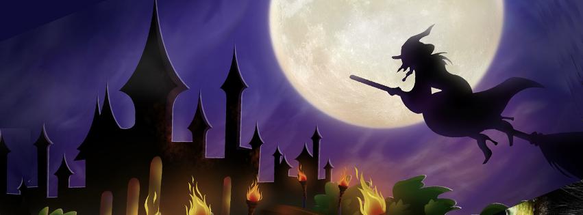 Moonlit Witch Halloween Facebook Timeline Cover Halloween