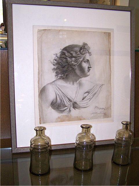 Framed pencil drawing. | Pencil drawings, Painting, Drawings