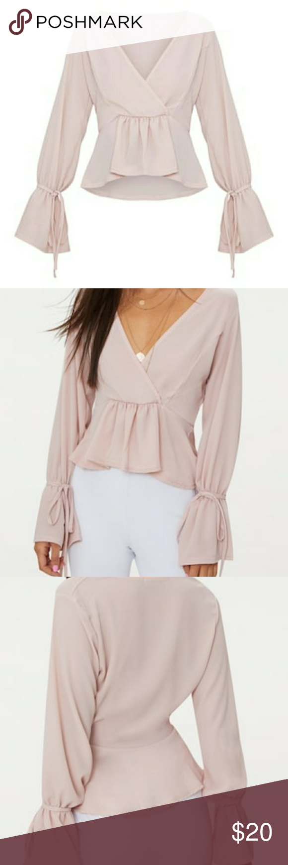 fa9078916faf Pretty Little Thing blush blouse New with tags! Size 6