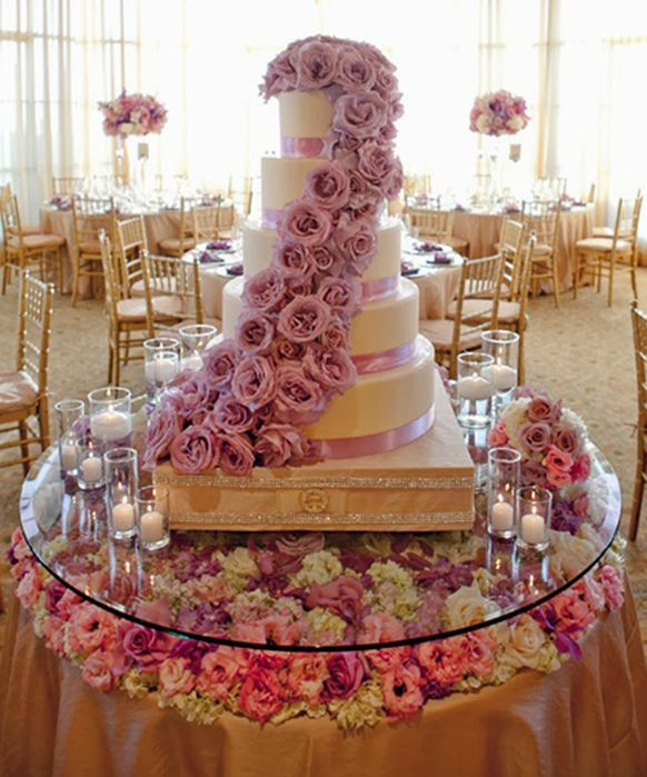 Jamaican Wedding Reception Ideas Stylish Lavender Cake Table