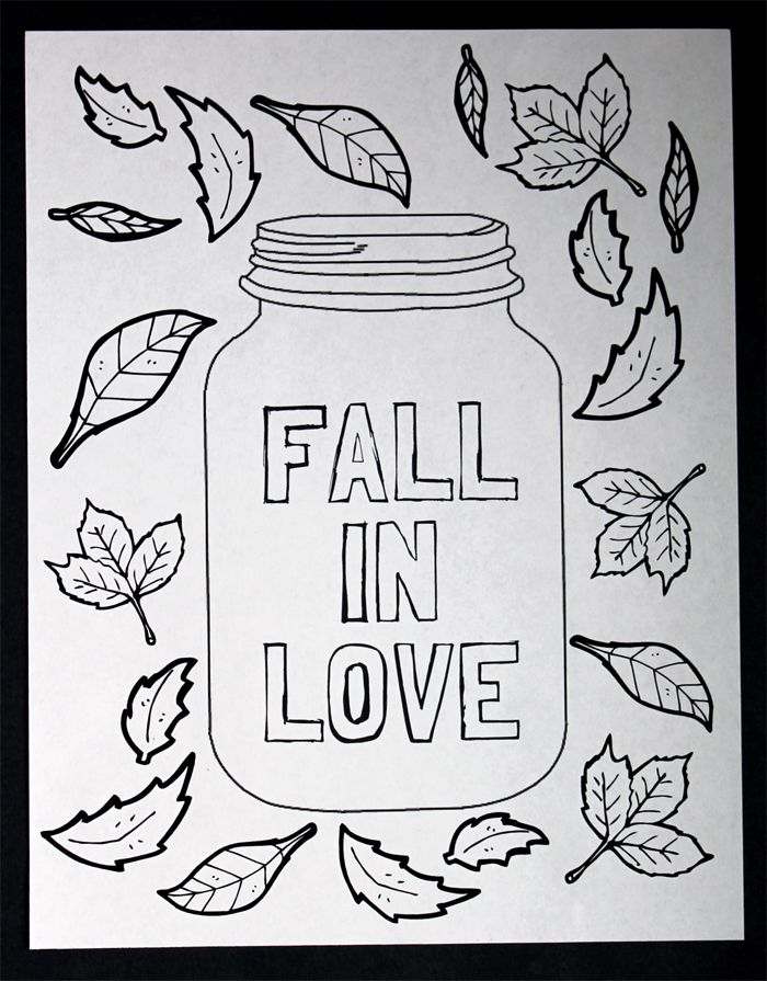 Mason Jar Coloring Page Free Printable Fall Crafts For Kids