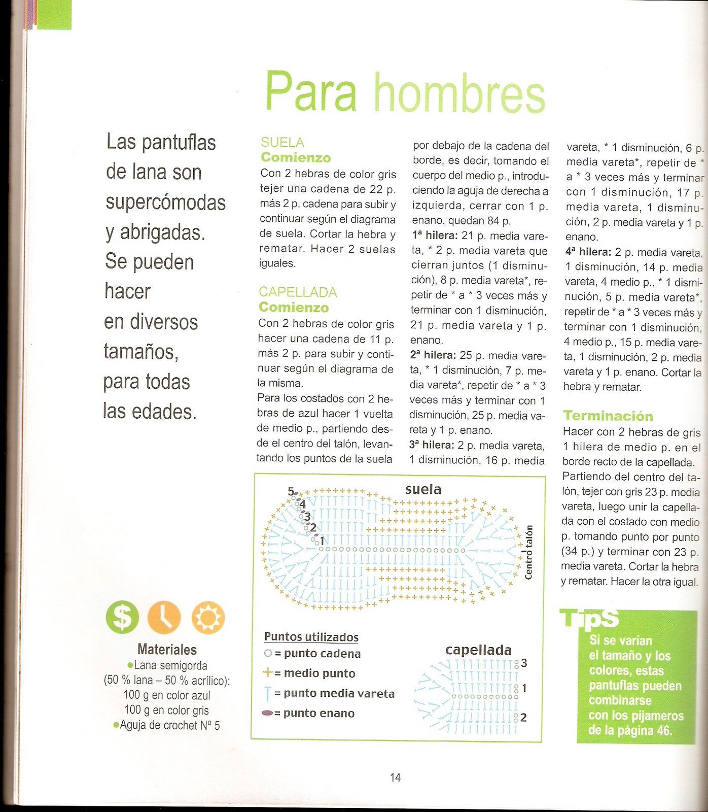 pantufla+de+hombre+2.jpg (1396×1600) | Crochet | Pinterest | El ...