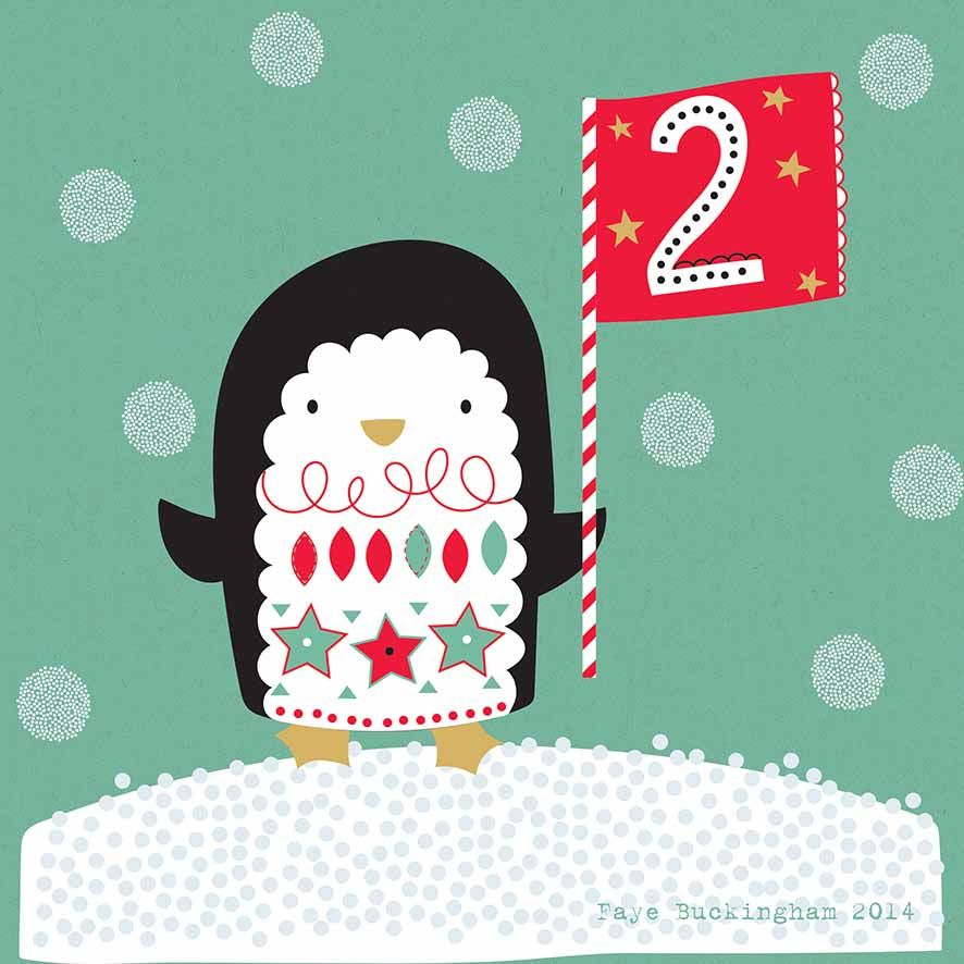 Day 2! Christmas advent, Faye Buckingham 2014 advent calendar