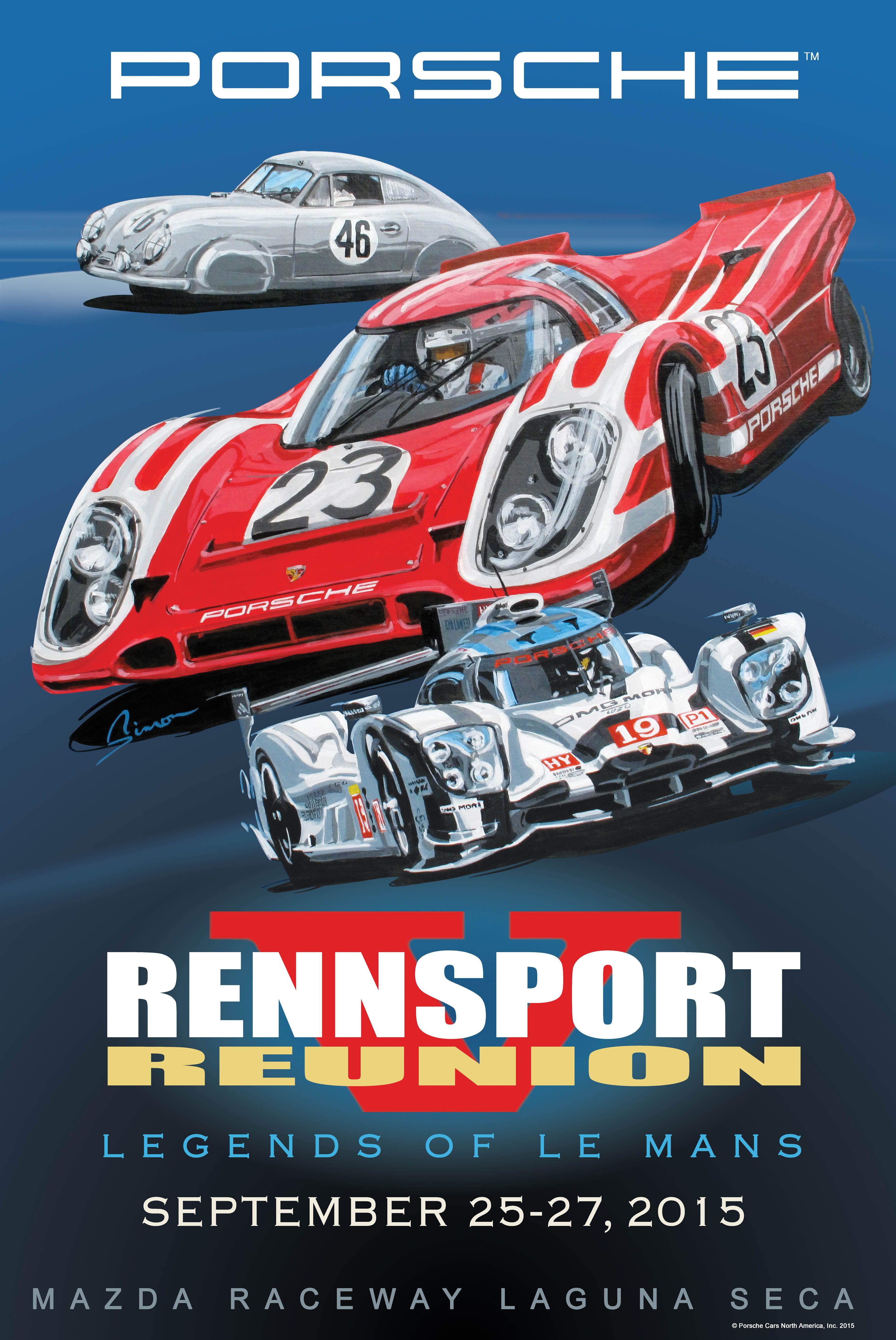 German Porsche Racing Rensport Reunion 4 Prints Posters