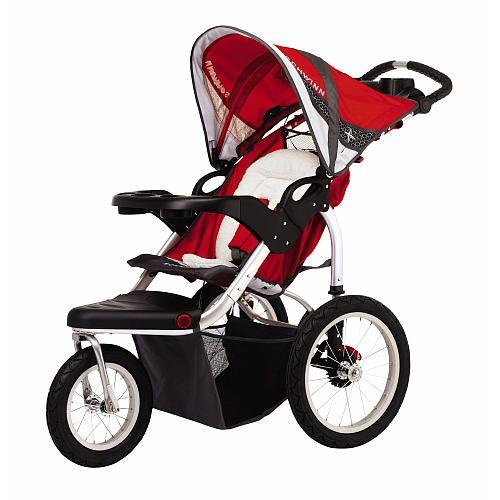 Schwinn Turismo Single Swivel Stroller - Red with Grey ...
