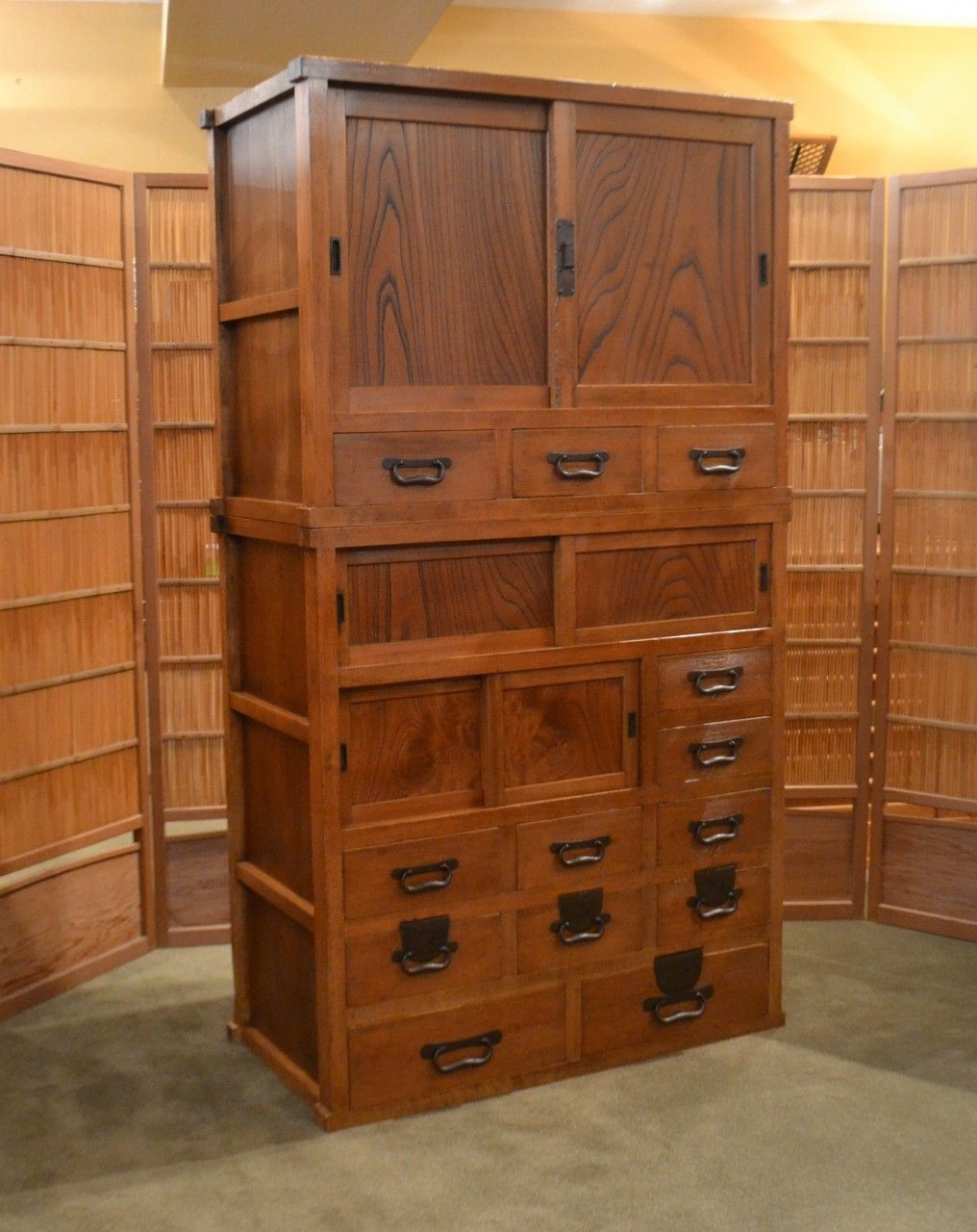 Antique Japanese Mizuya Tansu Kitchen Chest Japanese Furniture Diy Cabinets Rustic Modern Kitchen