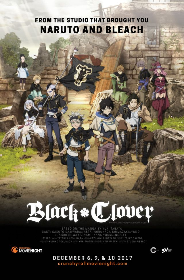 Black Clover To Hit North American Theaters In Crunchyroll S
