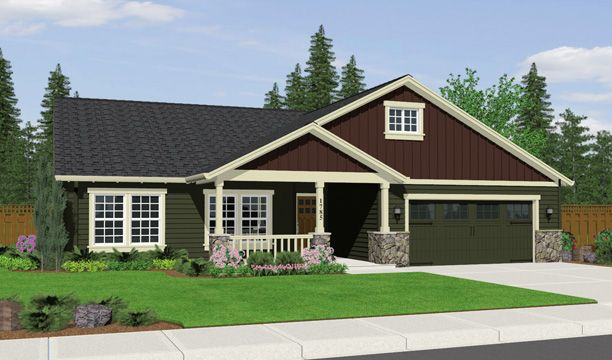 Large Artist Rendering Of A 1785 House Plan The Is Single Story With 3 Bedrooms 2 Baths Great Room Kitchen Bar Master