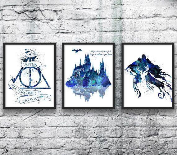Harry Potter Aquarelle Set 3 Le Chateau De Poudlard Reliques