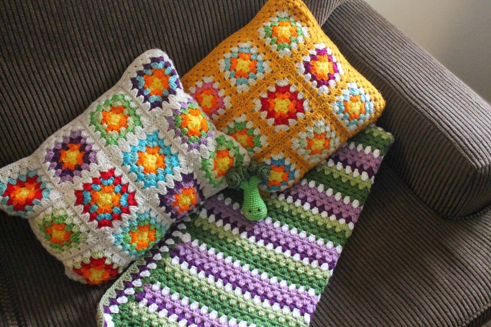 Amigurumi Food: Crochet granny stripe-Manta para cuna {Patrón Espa ...